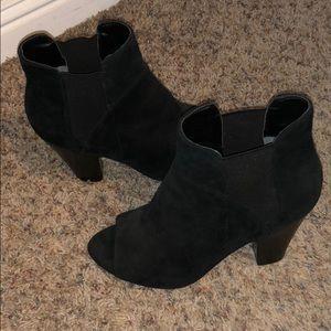 Black Guess Peep Toe Booties